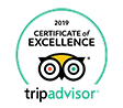 Tripadvisor Certificate Excellence 2019